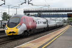 VT 390008 @ Rugeley Trent Valley train station (ianjpoole) Tags: virgin trains class 390 pendolino 390008 charles rennie mcintosh working 1a37 manchester piccadilly london euston