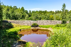Old Stone Bridge (Einar Schioth) Tags: outdoor oldbridge water trees tree day sky summer sunshine sun shore hedmark canon cloud clouds coast sigma sigma2470 grass grassland vividstriking blusky nationalgeographic ngc norway nature norge landscape lake photo picture river einarschioth