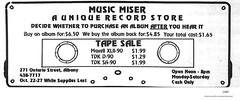 Music Miser records  271 ontario st  1985 (albany group archive) Tags: music store 1980s old albany ny vintage photos picture photo photograph history historic historical