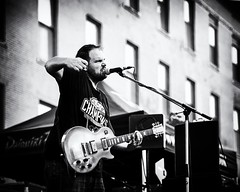 The Last Glimpse / Rock the District 2018 (Oliver Leveritt) Tags: nikond610 afsnikkor70200mmf28gedvrii oliverleverittphotography concert musician guitarist thelastglimpse band rockthedistrict rockisland illinois daiquirifactory monochrome blackandwhite