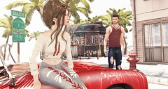 Look # 504 (Alexa Sabetha   Yes Please!) Tags: lamb fameshed zoom vinyl blueberry ohemo riot sl secondlife avatar virtual beach car