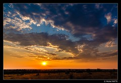 Colorful sky (Michel MATTE) Tags: southernafrica southafrica sunset landscape orange blue clouds colorful sky afriquedusud nature paysage