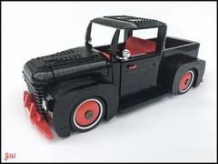 Black Pick Up (jarekwally) Tags: lego pick up moc wallyjarek jarekwally black red chrome car truck lugpol zbudujmyto brickie lugie jw