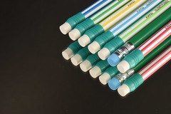 Eraser Stack (rq uk) Tags: rquk nikon d750 nikond750 afsvrmicronikkor105mmf28gifed erasers eraser pencil mirror reflection ghosting macro micro colourful macromondays