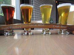 Beer flight (jamica1) Tags: kvr pub penticton okanagan bc british columbia canada beer