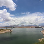 Theodore Roosevelt Dam & Roosevelt Lake Bridge (Tonto National Forest - Roosevelt, Arizona) - July 13, 2018 thumbnail