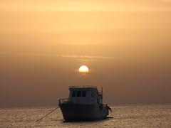 come to Egypt (azalicja) Tags: egypt travel landscape redsea sunrise sky clouds sun sea water boats tourism