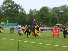 DSCF3844 (SierPinskiA) Tags: ruffordabbeycountrypark rufford knightsofnottingham fujixs1 jousting medieval horse knights goldeneagle falcon