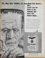 Thimk Magazine No. 5 ( Feb 1959 ) (Donald Deveau) Tags: 1959 magazine satire thimk frankenstein universalmonsters monster ads smoking