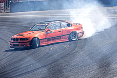 Smokey Slider (Geoff Henson) Tags: car racing sliding slider tyre tires smoke spin rubber bmw drift drifting
