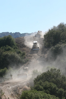 Dozers Cut Fireline on Wildfires