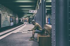 Hamburg (michael_hamburg69) Tags: hamburg germany deutschland man guy ubahn underground waiting station klosterstern photowalkmitkatrin transport subway haltestelle hvv