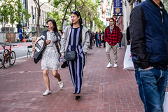 San Francisco 2018 (burnt dirt) Tags: sanfrancisco california vacation town city street road sidewalk crossing streetcar cablecar tree building store restaurant people person girl woman man couple group lovers friends family holdinghands candid documentary streetphotography turnaround portrait fujifilm xt1 color laugh smile young old asian latina white european europe korean chinese thai dress skirt denim shorts boots heels leather tights leggings yogapants shorthair longhair cellphone glasses sunglasses blonde brunette redhead tattoo pretty beautiful selfie fashion japanese stripes red bag blue
