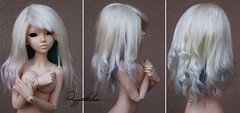 Fur wig for MSD (Puppet Tales Dolls) Tags: ooak doll wig dollwig yarnwig bjd balljointeddoll fairyland chloe