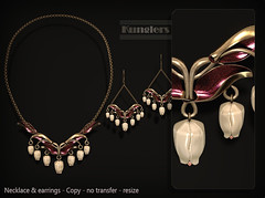 KUNGLERS Bia AD Pearl (AvaGardner Kungler) Tags: kunglers avagardnerkungler secondlife jewelry mesh 3d gaming necklace virtualworld virtualjewelry statement fantasy roleplay earrings avakungler cosmopolitan tulip