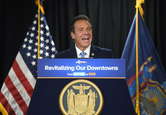 Governor Cuomo Announces Transformational Projects in Hicksville as Part of $10 Million Award (governorandrewcuomo) Tags: governorandrewmcuomosmilesconfidnetlyfrompodium newyorkstate nassaucounty longisland lirr mta longislandrailroad construction downtownrevitalization hicksville newyork unitedstatesofamerica