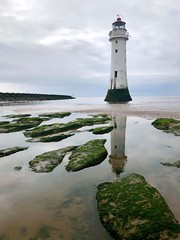 """Guide me to..."" (RF-Edin) Tags: sky rocks sea lighthouse liverpool"