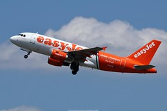 "Easyjet Airbus A319 G-EZIW ""Linate-Fiumicino Per Tutti livery) (Planes Spotter And Aviation Photography By DoubleD) Tags: airlines liners jet commercial easyjet special scheme paint linate fiumicino livery geziw toulouse lfbo take off spotters spotting canon eos profile sky clouds"