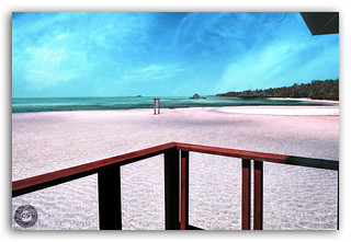 To escape & sit quietly on the beach...thats my idea for paradise!