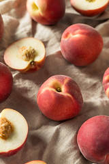 Raw Ripe Organic White Peaches (brent.hofacker) Tags: agriculture apricot background bright delicious dessert food fresh freshness fruit harvest healthy ingredient juicy leaf natural nature nectarine nutrition orange organic peach peaches perfect pink raw red ripe snack summer sweet tasty vegan vegetarian vitamin white whitepeach whitepeaches yellow