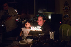 (Jeremy Whiting) Tags: low light birthday halo lighting effect reflection flare candles smile humans dark house party event michigan