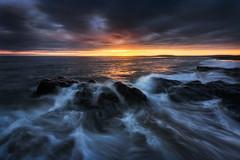 Thor Visits Ballybunion (Greengraf Photography) Tags: atlantic ballybunionsea beach cloud coast dark evening horizon ireland kerry moody rock sand sea sunset water wave wildatlanticway