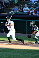 HIT TO LEFT (MIKECNY) Tags: baseball hit batter swing catcher tricityvalleycats vermontlakemonsters astros as minorleague nypennleague