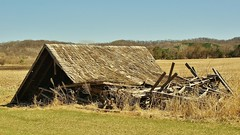 Real Estate To Ruin (chumlee10) Tags: oldhouse down field wisconsin wi wooden shingles roof prairie