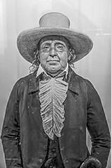 Jeremy Bentham (albyn.davis) Tags: art sculpture museum met blackandwhite hdr hat