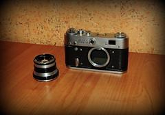 ФЭД-3 и его объектив Индустар-61 / FED-3 and its lens Industar-61 (Владимир-61) Tags: фотоаппарат фэд3 объектив индустар61 camera fed3 lens industar61
