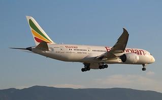 Boeing 787-8 Dreamliner. ET-ATI. Ethiopian Airlines ET726. GVA.