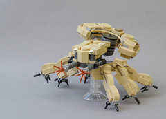 R-3000 hexapod tank entering battle (Tino Poutiainen) Tags: lego legomoc legobuild microscale moc machine midiscale mecha miniscale robot anime action photograph ghost shell battle combat tfol scifi film movie
