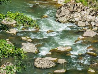 Cascade on the Sihl River, Wollerau, Canton of Schwyz, Switzerland