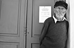 Oldboy1 (plot19) Tags: paxos paxi greek greece island isle islands love plot19 photography portrait old man boy nikon hat blackwhite door hot