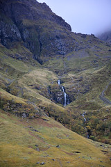 Scotland ~ EXACTLY (3/3) (Jungle Jack Movements (ferroequinologist)) Tags: scot scotland scottish wonderful light mist weather landscape achnambeithach cottage bridge heritage glen coe river west western highlands tour tourist uk gb great britain united kingdom mountain range ben nevis fort william glenfinnian water waterfall cascade cold cloud overcast national trust