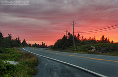 Sunset Road! (sminky_pinky100 (In and Out)) Tags: novascotia canada peggyscoveroad route333 road atlanticcanada pretty scenic travel tourism bend maritimeprovinces atlanticprovinces outdoors omot cans2s sunset summer glow sky