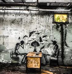 Skeleton Factory (Urbexrover) Tags: belgium skeleton skekletonfactory skeletonwarehouse abandonedfactory abandonedbelgium urbexbelgium urbexbe ghent roa klassvanderlinden graffiti graffitiart streetart streetgraffiti ghentgraffitiskeletongraffiti skeletonart urbex urbexphotography urbanexploration urbexartists urbexrover ripearts decay abadndoned art photography urbextrip