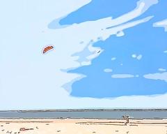 Drachen steigen lassen (Jörg Paul Kaspari) Tags: drache meer strand video wind baltrum drachen