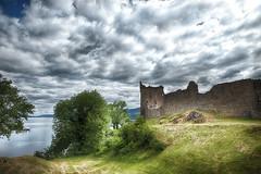 Urquhart Castle and Loch Ness (jgokoepke) Tags: urquhartcastle lochness highland scotland drumnadrochit unitedkingdom clouds summer hdr mhdr