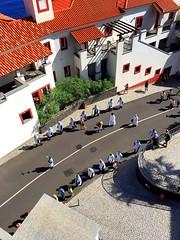 Madeira, Portugal. Funchal, Procession (dimaruss34) Tags: newyork brooklyn dmitriyfomenko image portugal madeira svetlanafomenko funchal procession people street houses trees roofs windows sh shadow
