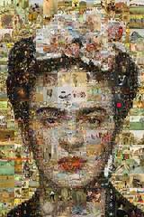 Frida Khalo Mosaic (cornejo-sanchez) Tags: mosaic photomosaic visual art fine frida khalo mexico painting
