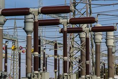 Electricity - Credit to http://homedust.com/ (Homedust) Tags: cable current danger distribution electric electrical electricity energy engineering equipment high voltage industry insulation line power production station steel substation supply technology transmission volt wire wiring