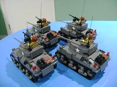DSC00384 (TekBrick) Tags: custom lego ww2 usa us sherman m4a4 tank turret war brick minifigure moc dark grey