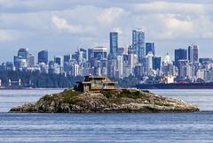 Passage Island, Vancouver skyline (jer1961) Tags: passageisland island tinyisland vancouver vancouverskyline skyline westvancouver tankers stanleypark