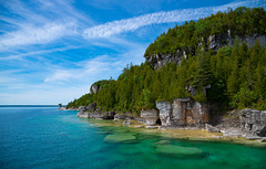 Flowerpot Island, Ontario (RickG59) Tags: water greatlakes lake horon george bay tobermory forst forest sky clouds canada