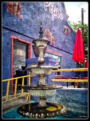 _8270061 (PEN-F_Fan) Tags: microfourthirds mft m43 mirrorless raw photoborder photoedge photoframe olympus ozona texas unitedstates usa pepescafe exterior fountain door building art texture postprocessing preset on1photoraw2018 photomorphis coloresytexturasv201 reflection grunge