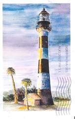 US-4804952 (Iridale) Tags: cartoline postcards postcrossing fari lighthouses usa statiunitidamerica watercolor acquerelli