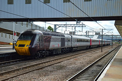 43384 + 43301 - Peterborough - 16/06/18. (TRphotography04) Tags: cross country on hire virgin trains east coast hst 43384 43301 stand peterborough with 1e04 0655 edinburgh london kings