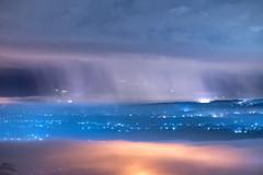 雨幕 Rain curtain (bibi.barbie) Tags: taiwan 南投縣 南投市 橫山 名間 山 夜景 139縣 雲 物 霧