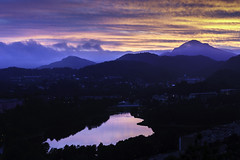 Epic summer sunset (Haraldinhio) Tags: landscape hill sunrise mountain range fog horizon over land dawn peak snowcapped scenics dramatic sky bergen norway